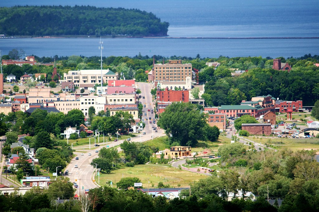 Downtown Marquette, MI.