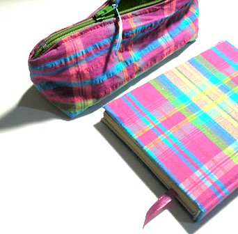 Pencil case + Fabric Book handmade