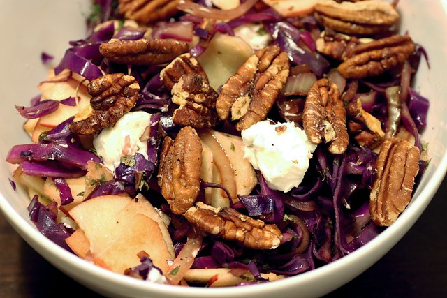 warm red cabbage salad | Recipe found here | By: Stacy ...