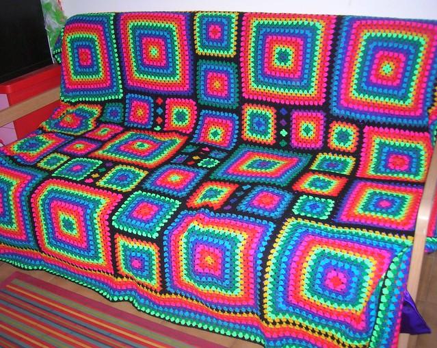 Mosaic Crochet Afghan Pattern : Irregular Rainbow Mosaic Crochet Afghan Flickr - Photo ...