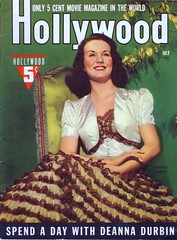 Deanna Durbin on the cover of Hollywood, August 1940