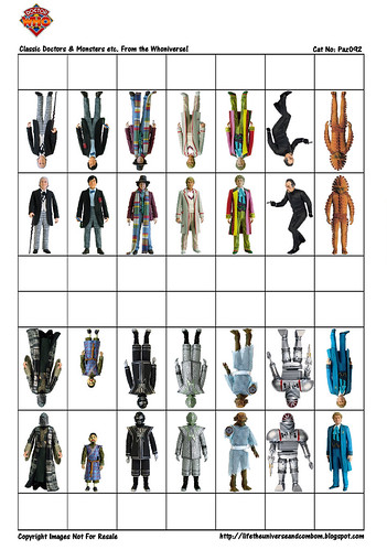 Cardstock - Paz093 - Classic Doctor Who & Monsters-PaZZa