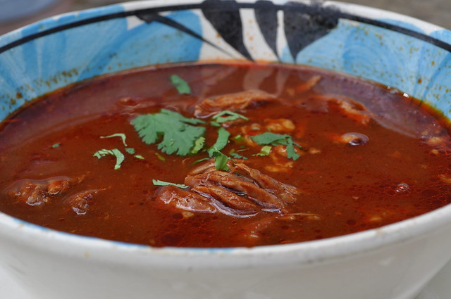 birria - shredded beef in a red chile sauce/soup | Flickr - Photo ...