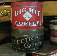 Coffee Tins (Big Hit & Electric Brands)