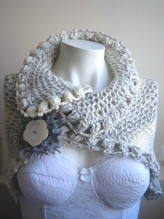 grey cream scarf