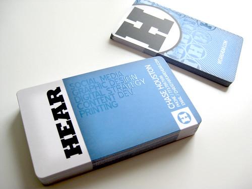 Hear Agency Business Cards