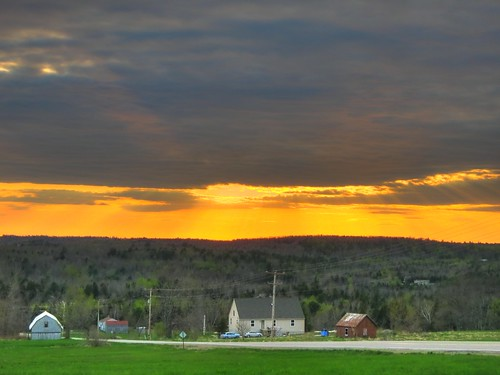 county sunset rural maine knox waldo hdr 137 a470