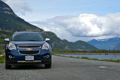 Our ride, the Chevy Equinox