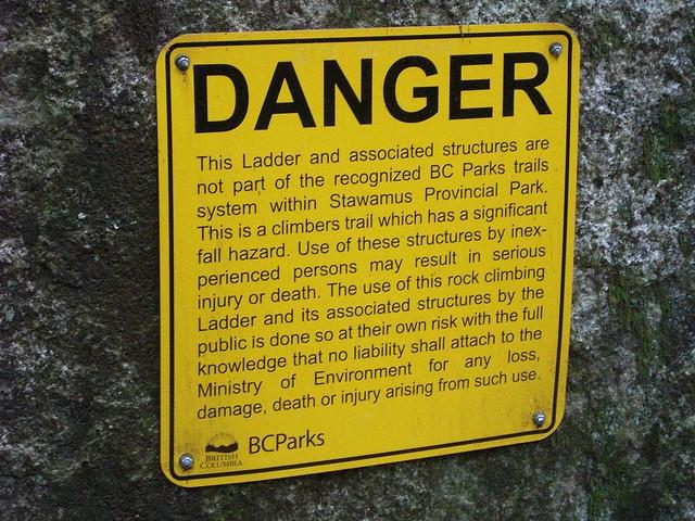 Sketchy Ladder Liability Sign
