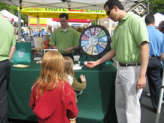Excitement at the prize wheel