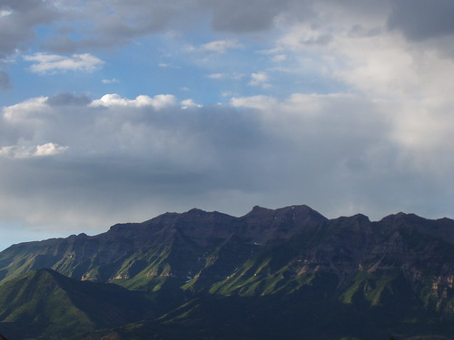 Mount Timpanogos, as seen from Utah Valley. It is very prominent, from anywhere in the valley.