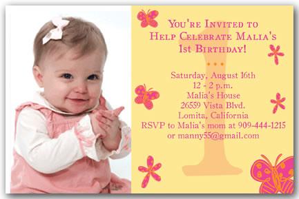 Imgenes de 1st birthday invitation wording religious butterflies 1st first birthday invitations filmwisefo