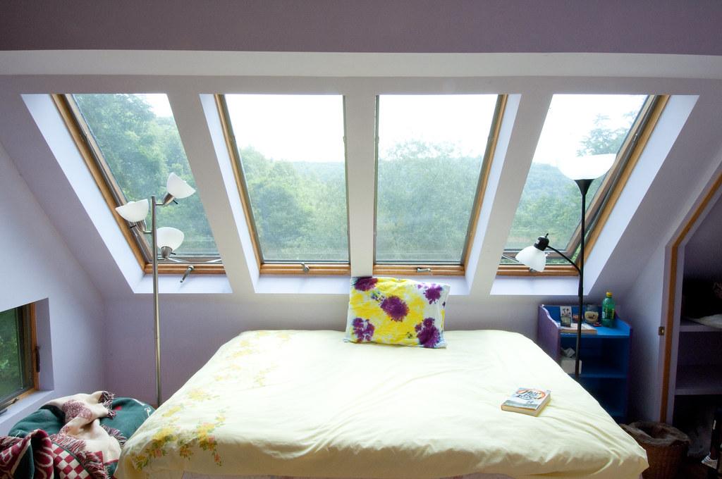 family bedroom in dacha