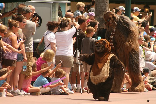 Wicket and Chewbacca