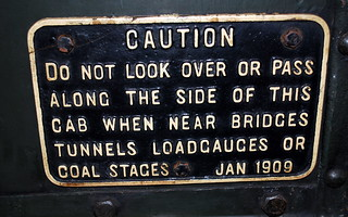 GWR cast sign *
