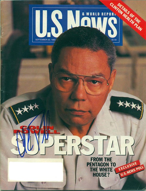 September 20, 1993, Autographed US News & World Report Magazine by General Colin Powell
