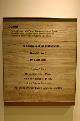 Hall of Human Origins Donors