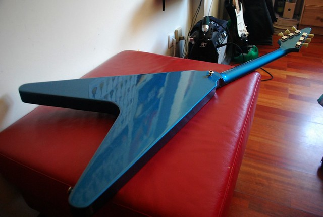 Photo:2007 Gibson Flying V - Vibrola, Burstbucker Pro Pickups, Lake Placid Blue By Freebird_71