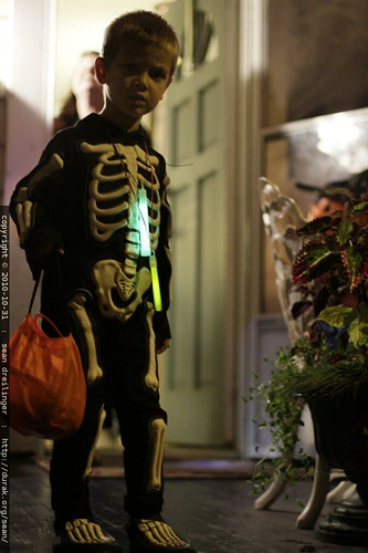 skeleton marcus concludes his trick or treating