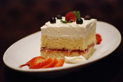 pavlova(0.0), produce(0.0), cheesecake(0.0), torte(0.0), cake(1.0), semifreddo(1.0), bavarian cream(1.0), buttercream(1.0), strawberry(1.0), sweetness(1.0), whipped cream(1.0), food(1.0), icing(1.0), dish(1.0), dessert(1.0), cuisine(1.0), cream(1.0), mascarpone(1.0),