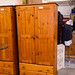 Tall solid pine 2 door wardrobe E160