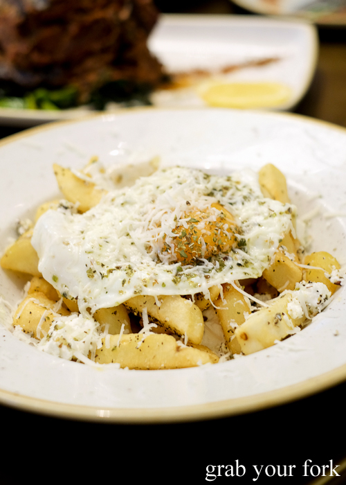 Yia yia's hand cut chips at 1821 Greek restaurant in Sydney