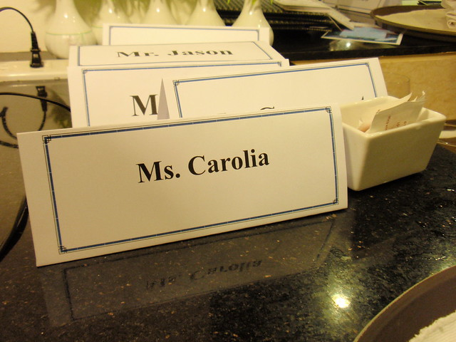 Our table placard  Explore  Table Placards