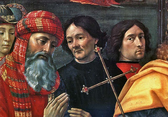 Domenici Ghirlandaio - Self-portrait (detail from Adoration of the Magi)