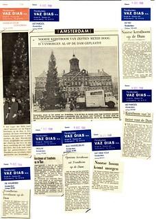 Omtale av juletreet fra Trondheim i Nederlandske aviser (1968)