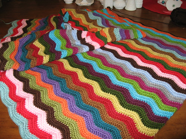 Crochet Multiple Colors : Multi color crochet ripple blanket Flickr - Photo Sharing!
