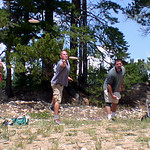 Leslie Herndon, Avery Jenkins and Dave Feldberg in the Ring of Fire at the 1st Annual High Country Challenge A-Tier, August 2003.