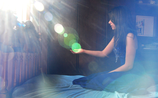 Blue light in my magic room