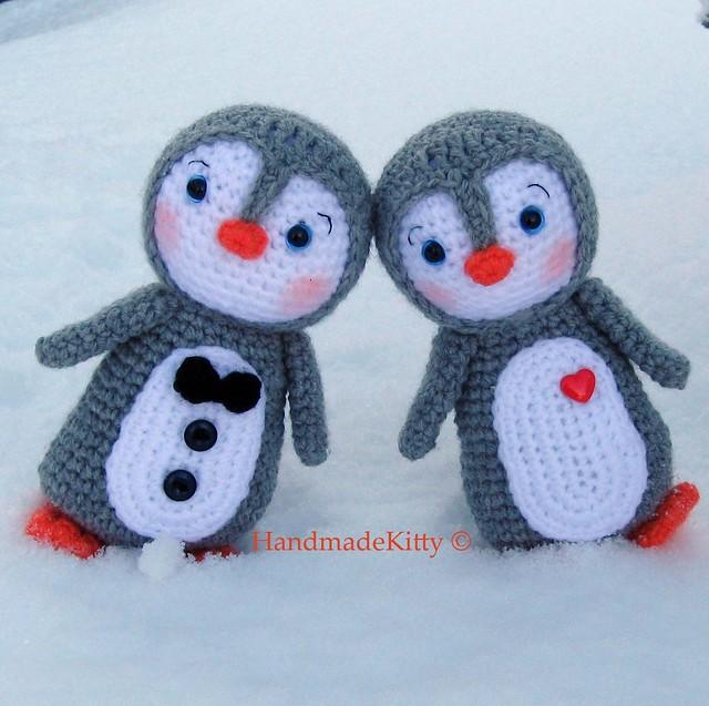 Kawaii Amigurumi Penguin couple crochet pattern - a photo ...