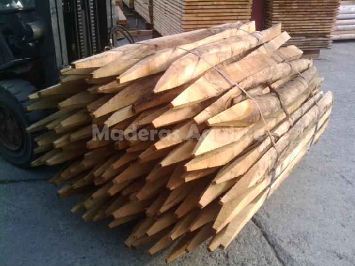 Maderas aguirre jardineria estacas estacas de acacia - Estacas de madera para cierres ...