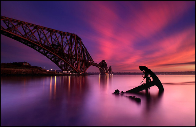Forth Rail Bridge @ Sunset - Scotland