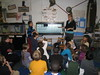 Ms. T. and fourth grade - fry swim into tank