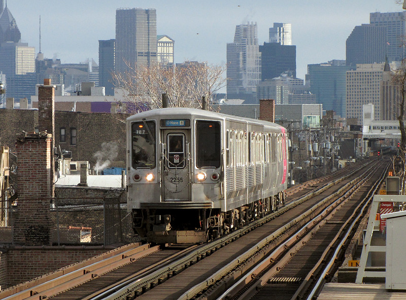 2200 series on the Blue Line