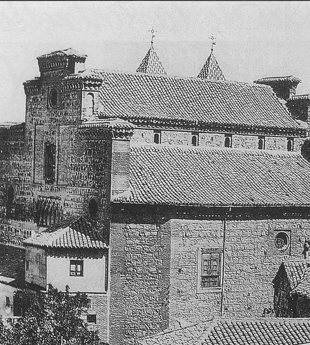 Iglesia de Santiago del Arrabal a principios del siglo XX. Foto Rodríguez (detalle)