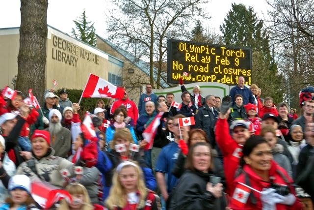 Vancouver 2010 Torch Relay in Delta & Surrey