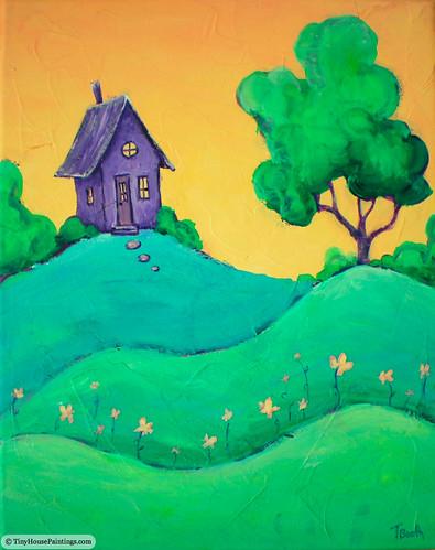 tinyhouse acryliclandscapepainting originalpaintingsforsale