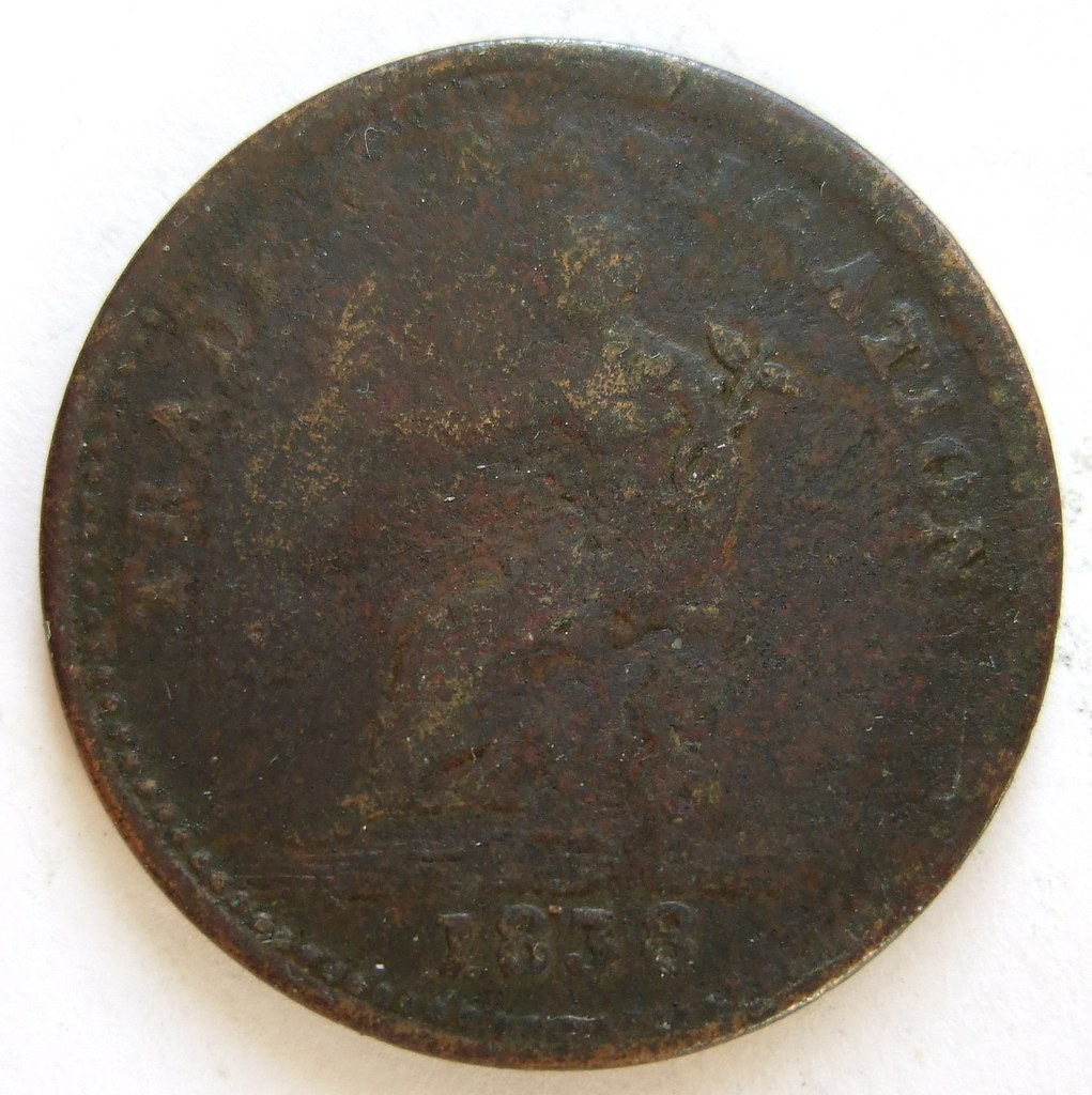 CANADA TRADE TOKEN 1838 ---DETAILS UNKNOWN a