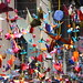 Multi-coloured, Recycled Decorations at the Fiesta de Gracia, Barcelona