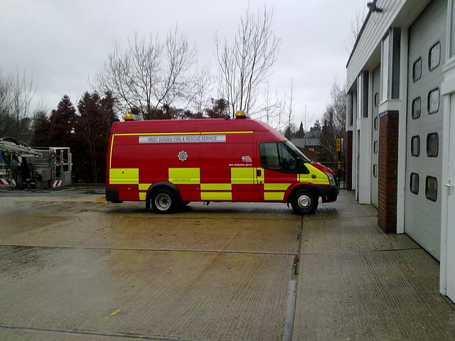 west sussex fire rescue service ford transit mobile work. Black Bedroom Furniture Sets. Home Design Ideas
