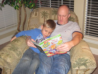 Alan reading to Ty, by robbiew on Flickr