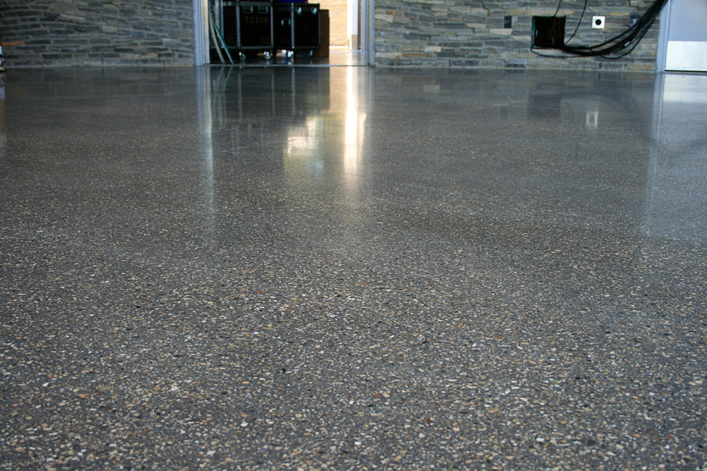 polished aggregate concrete polished concrete to 1500 grit with full peastone aggregate