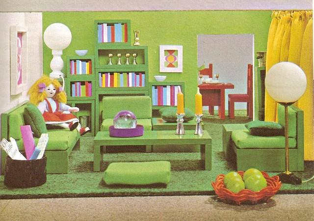 1968 puppenhaus zum selber bauen wohnzimmer a photo on flickriver - Wohnzimmer Sofa Selber Bauen