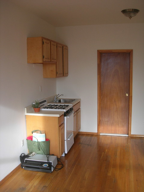 Kitchen, cabinets, and bathroom door  Flickr  Photo Sharing!