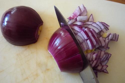 Recipe: Chickpea, avocado, red onion, halloumi salad ...