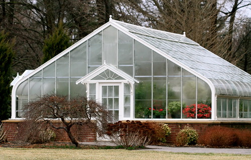 The smaller greenhouse.