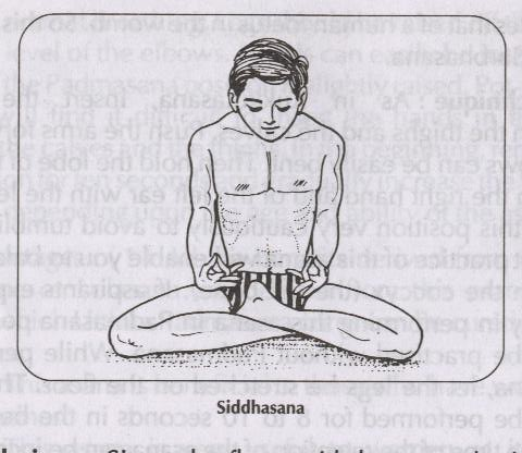 SIDDHASANA – SITTING POSTURE